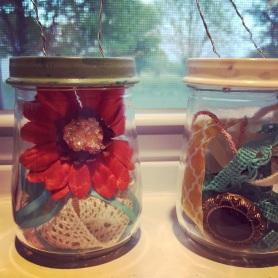 DIY baby jar 'lanterns'