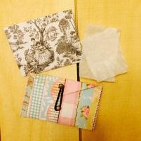 Blotting paper envelopes