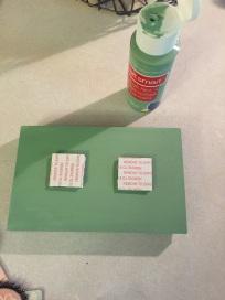 Add adhesive stickers