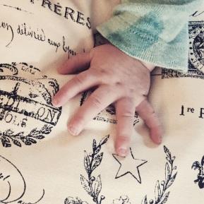 Baby hand.