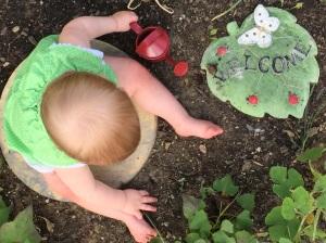Garden fairy. Photo Practice.