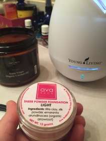 Ava makeup and Young Living diffusers.