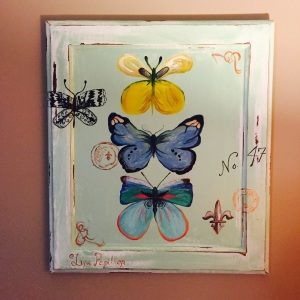 DIY cabinet door art